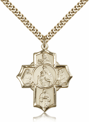 Bliss 14kt Gold Filled Our Lady of Mount Carmel Pendant Necklace
