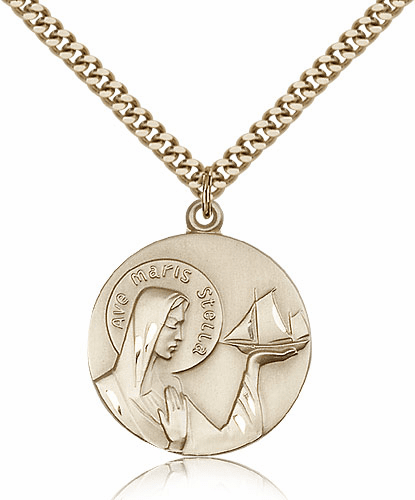 Bliss 14kt Gold-Filled Our Lady Star of the Sea Pendant