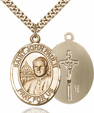 Bliss 14kt Gold-Filled Pope John Paul II Pendant Necklace