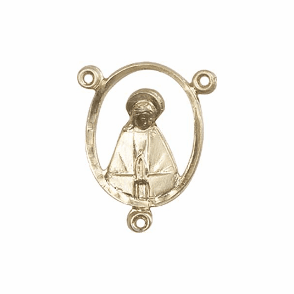 Bliss 14kt Gold-filled Praying Mary Rosary Center Part