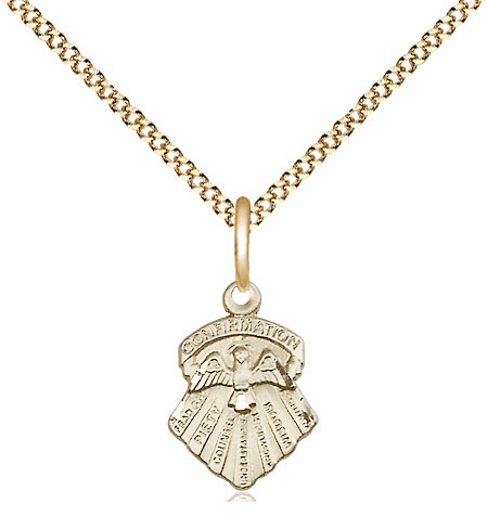Bliss 14kt Gold-filled Seven Gifts of the Holy Spirit Medal Pendant Necklace