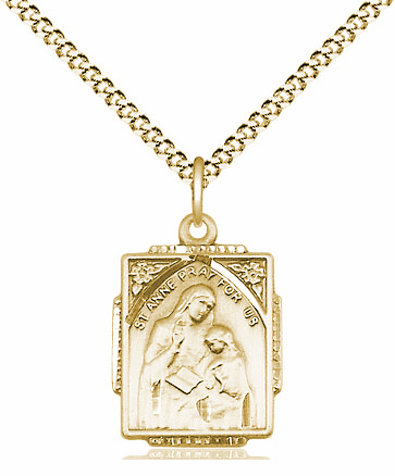 Bliss 14kt Gold-filled St Anne and Mary Pendant Necklace