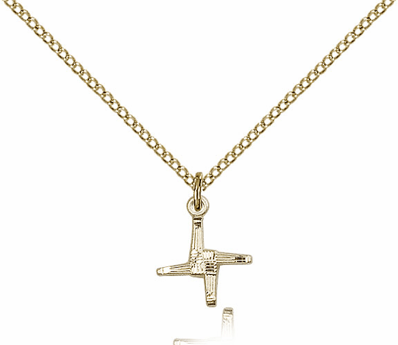 Bliss 14kt Gold-filled St Brigid Cross Medal Pendant Necklace