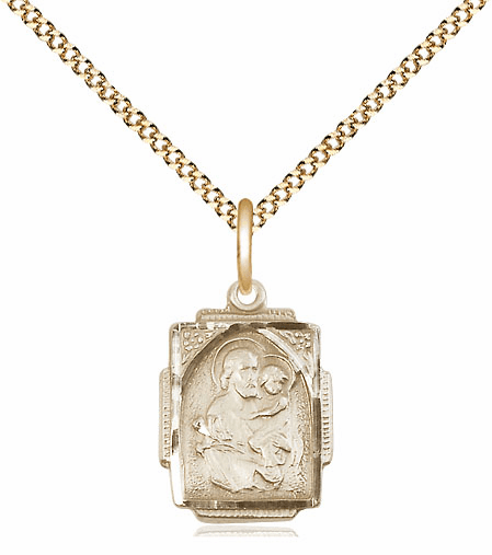 Bliss 14kt Gold-filled St Joseph Medal Pendant Necklace