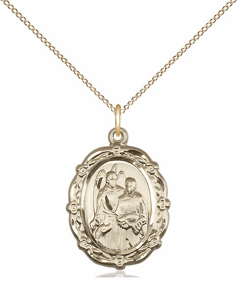 Bliss 14kt Gold-filled St Raphael the Archangel Medal Pendant Necklace