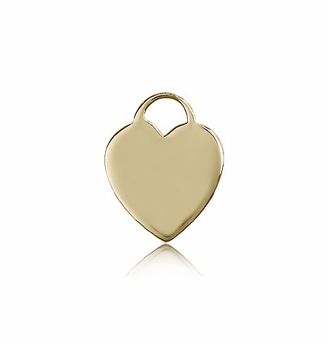Bliss 14kt Gold Heart Medal Pendant