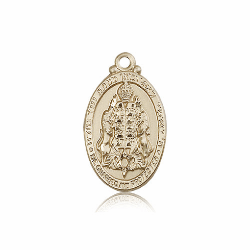 Bliss Manufacturing 14kt Gold Jewish Protection Medal Pendant