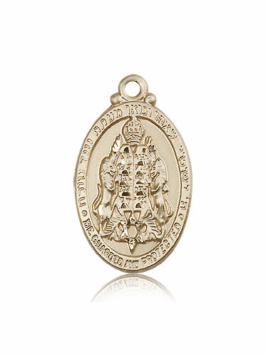 Bliss 14kt Gold Jewish Protection Medal Pendant