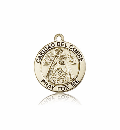 Bliss 14kt Gold Our Lady of Caridad Del Cobre Medal