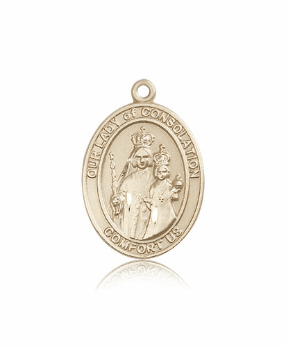 Bliss 14kt Gold Our Lady of Consolation Patron Medal