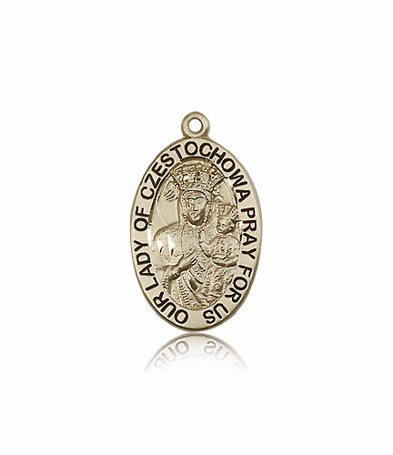 Bliss 14kt Gold Our Lady of Czestochowa Patron Medal