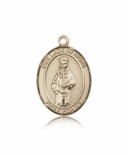 Bliss 14kt Gold Our Lady of Hope Medal Pendant