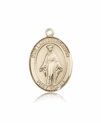 Bliss 14kt Gold Our Lady of Lebanon Medal Pendant