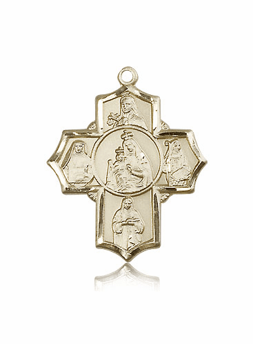 Bliss 14kt Gold Our Lady of Mount Carmel Medal