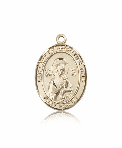 Bliss 14kt Gold Our Lady of Perpetual Help Medal