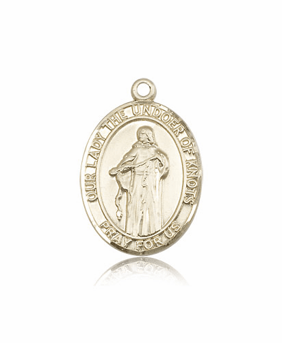 Bliss 14kt Gold Our Lady Undoer of Knots Medal