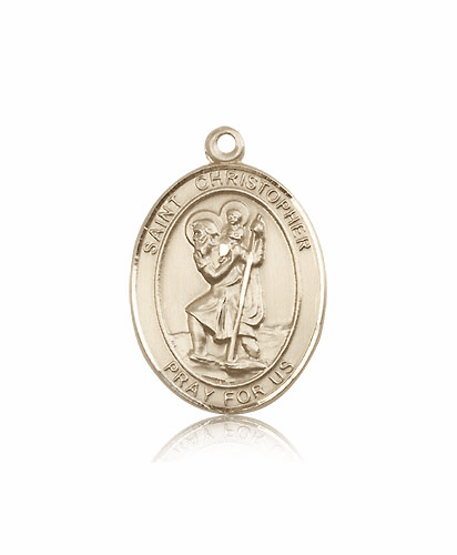 Bliss 14kt Gold St Christopher Patron Saint Medals