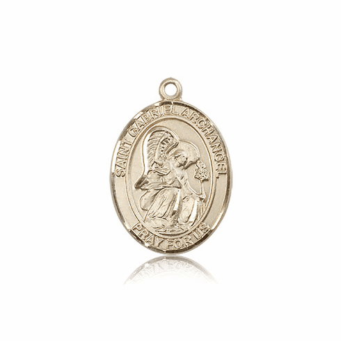 Bliss 14kt Gold St. Gabriel the Archangel Medal