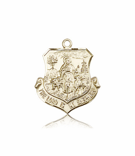 Bliss 14kt Gold The Lord Is My Shepherd Medal Necklace