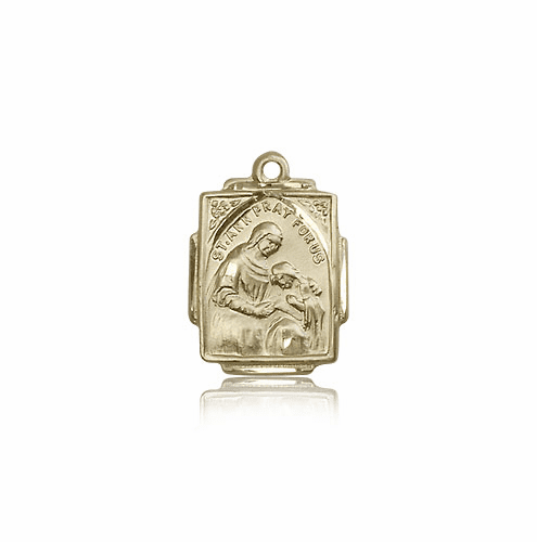 Bliss 14kt Solid Gold St Ann and Mary Pendant Necklace