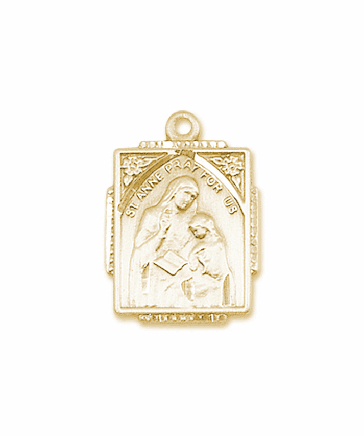 Bliss 14kt Solid Gold St Anne and Mary Pendant Necklace
