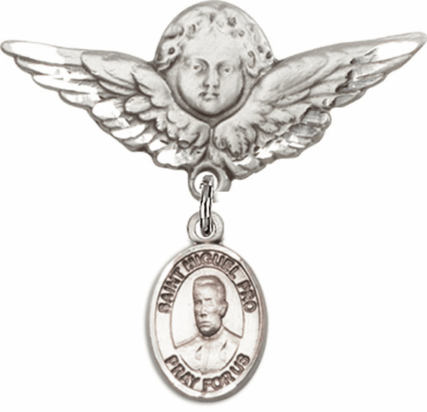 Bliss Angel w/Wings Label Pin Baby Badge with Blessed Miguel Agustin Pro Charm