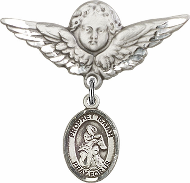 Bliss Angel w/Wings Label Pin Baby Badge with Prophet Isaiah Charm