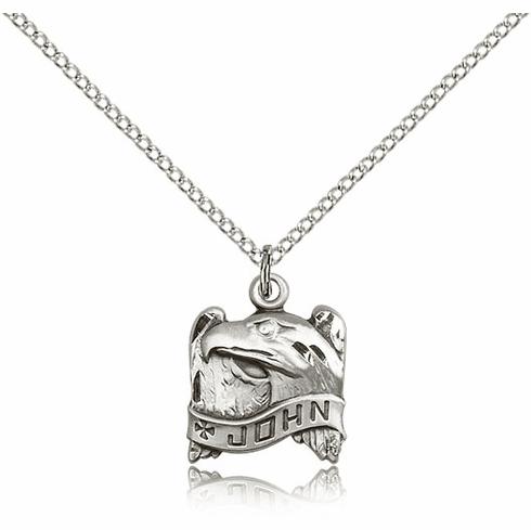 Bliss Apostle John Sterling Silver Christian Necklace