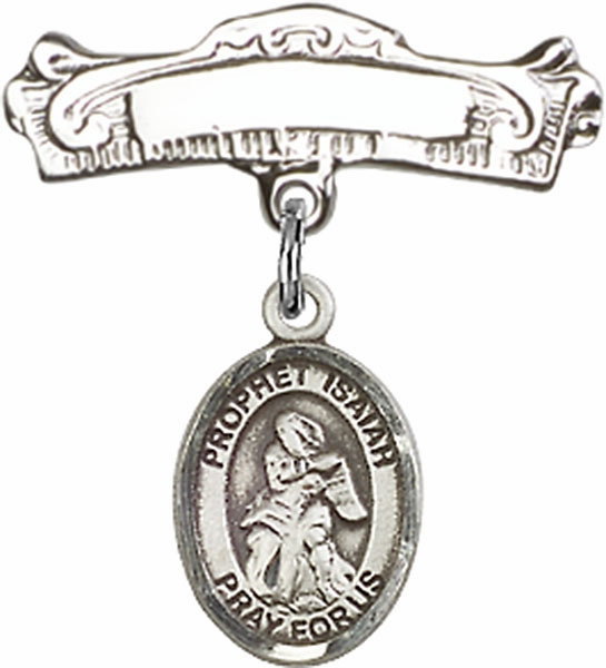 Bliss Baby Arched Badge Pin with Prophet Isaiah Charm