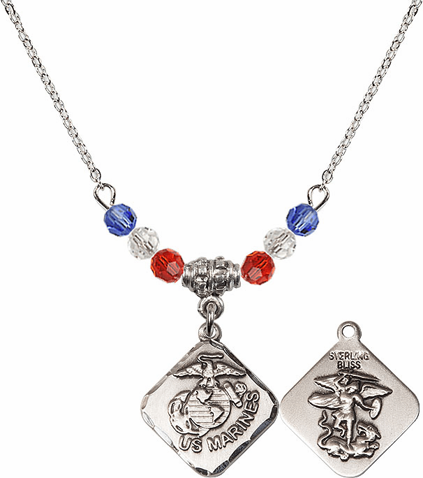Bliss Beaded US Military Pendant Necklaces