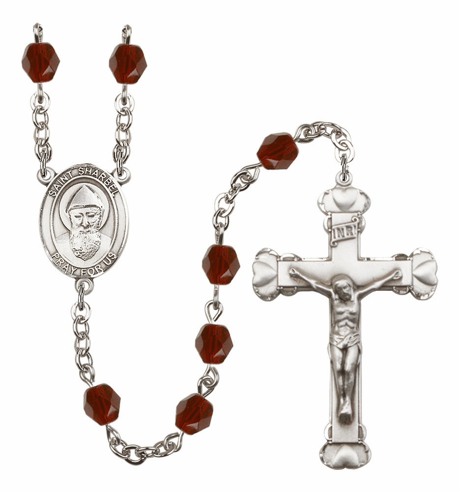 Bliss Birthstone Silver-Plated Patron Saint Rosaries