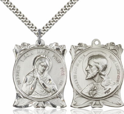 Bliss Blessed Virgin Mary/Sacred Heart of Jesus Necklace