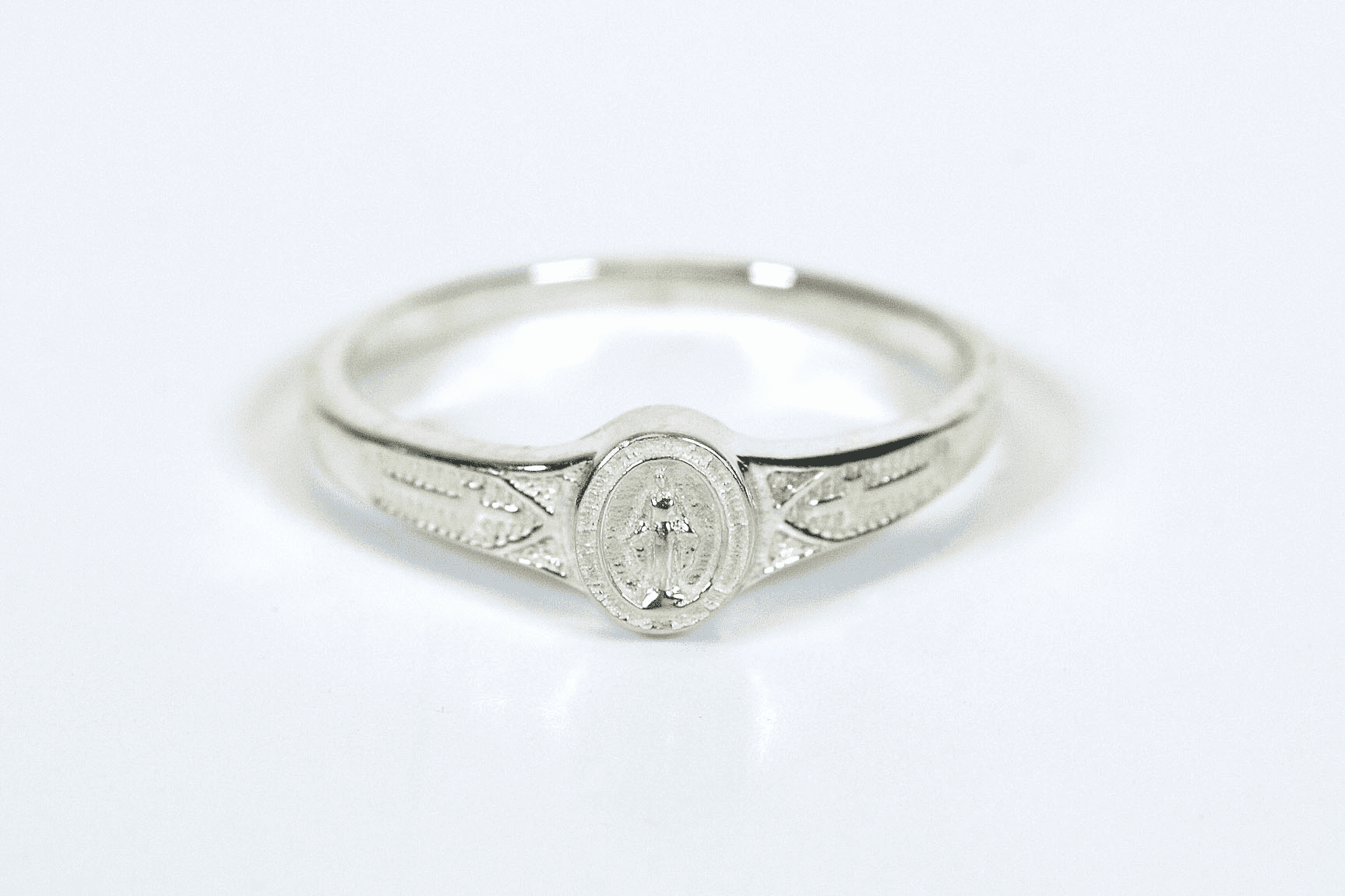 Bliss Child's Catholic Sterling Silver Miaculous Medal Ring