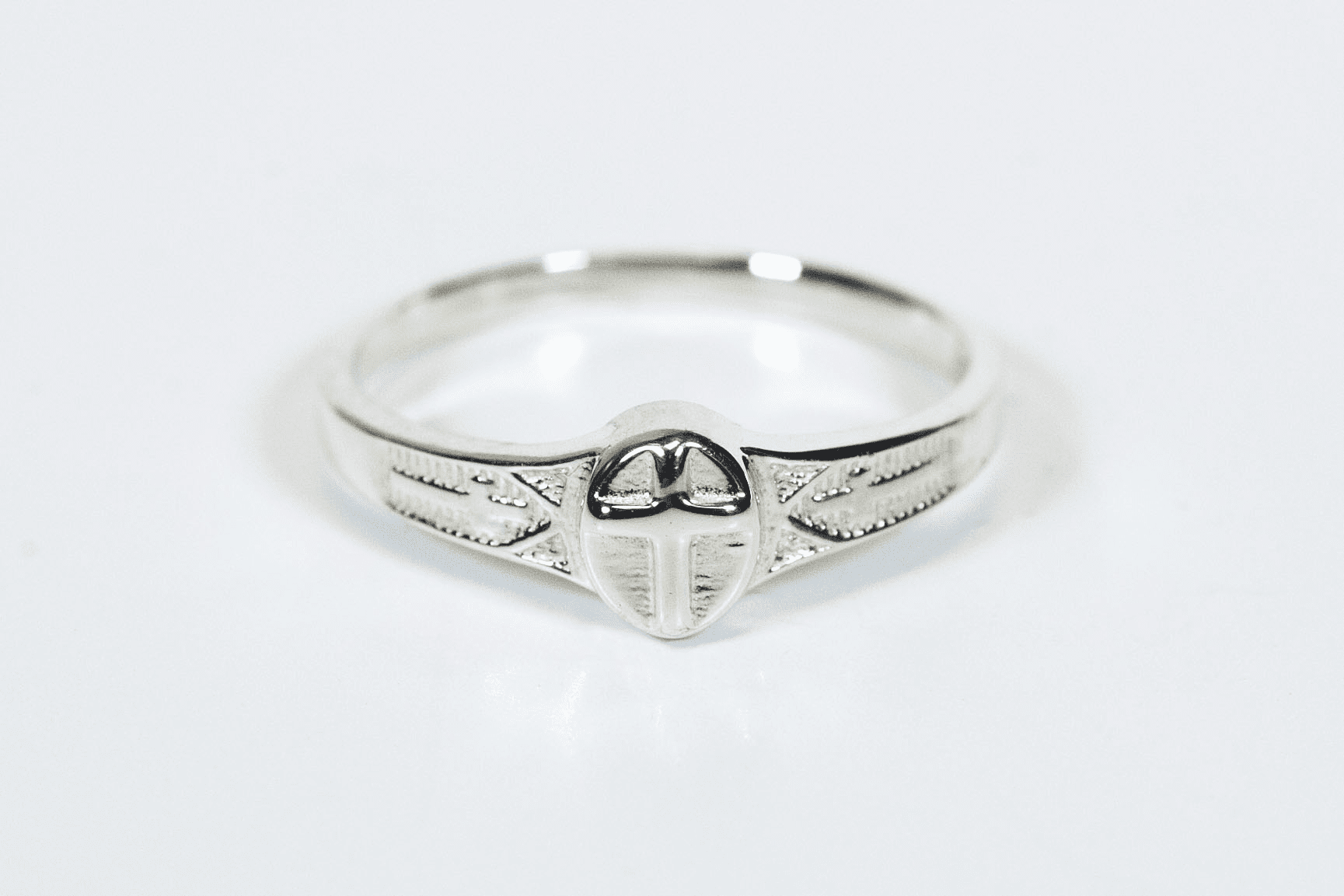 Bliss Child's Sterling Silver Christian Cross Ring