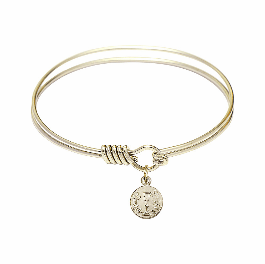 Bliss Communion Pewter and Gold-Plated Bangles w/Charms Bracelets