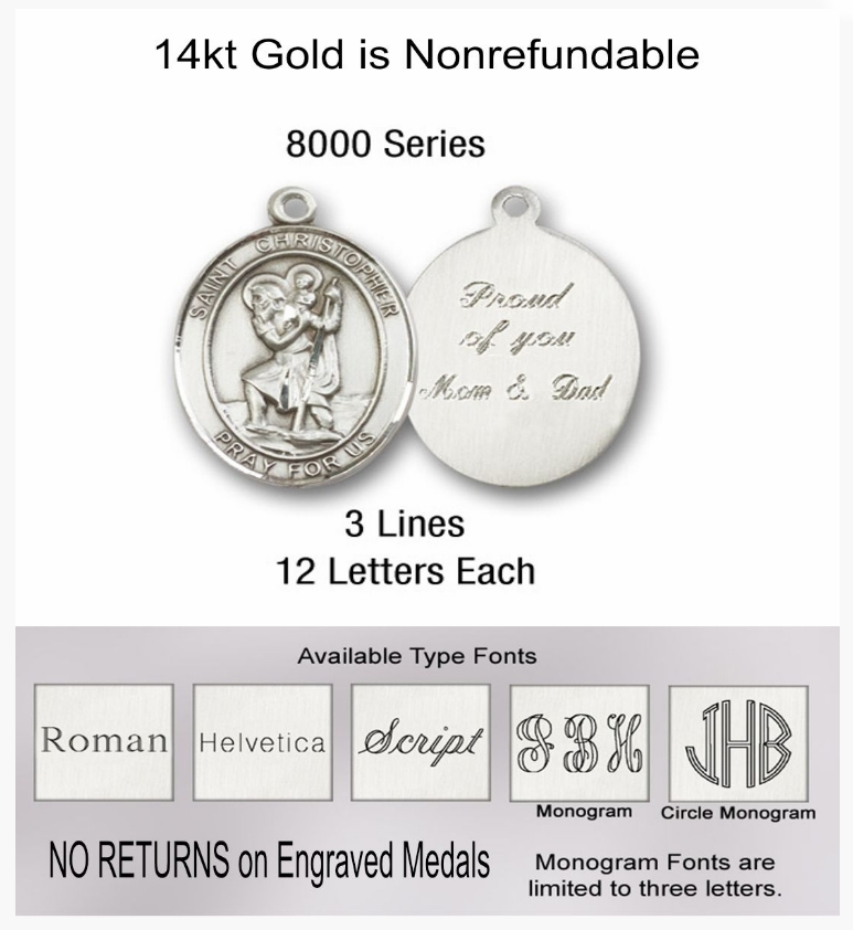 Bliss Engraving for Rosary Centerpieces