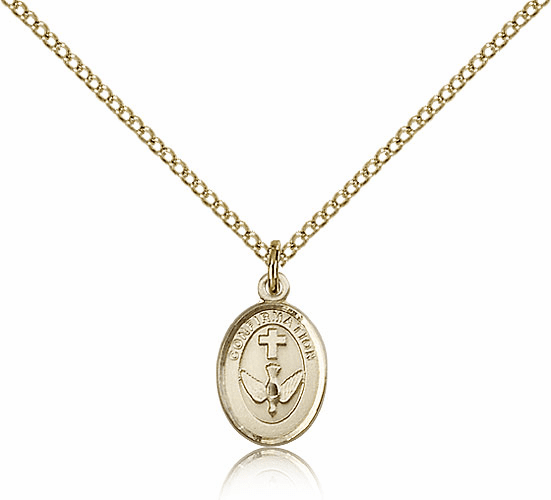 Bliss Gold Filled Confirmation Holy Spirit Pendant Necklace