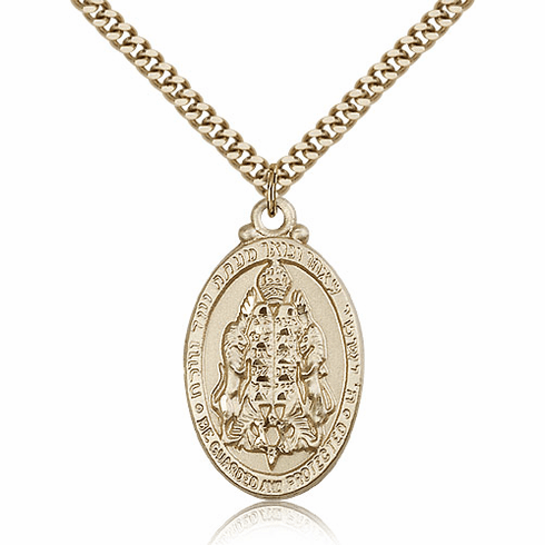 Bliss Gold Filled Jewish Protection Pendant Necklace