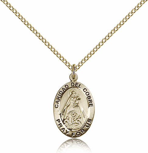 Bliss Gold Filled Our Lady of Caridad Del Cobre Pendant