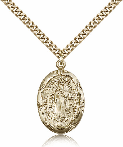 Bliss Gold Filled Our Lady of Guadalupe Pendant Necklace
