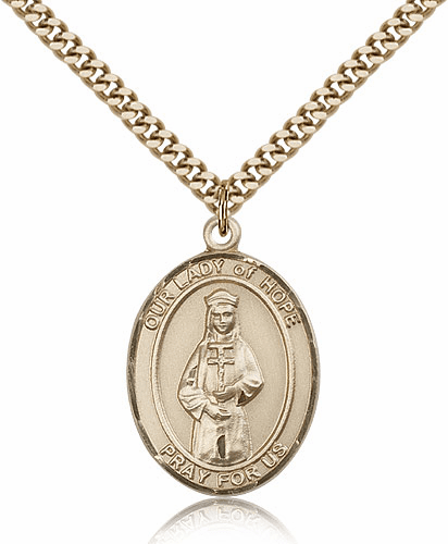 Bliss Gold Filled Our Lady of Hope Pendant