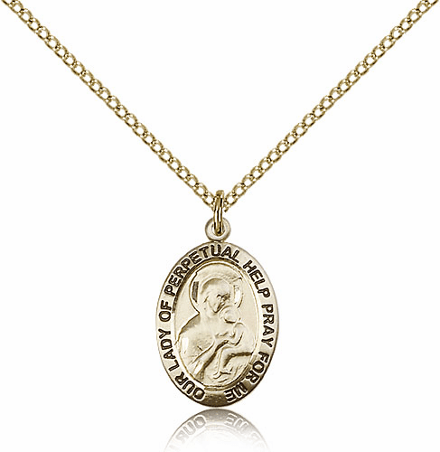 Bliss Gold Filled Our Lady of Perpetual Help Pendant