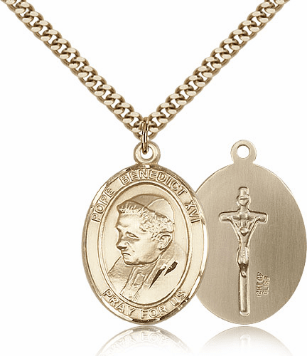 Bliss Gold Filled Pope Benedict XVI Pendant
