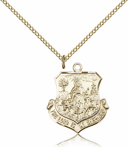 Bliss Gold Filled The Lord Is My Shepherd Pendant Necklace