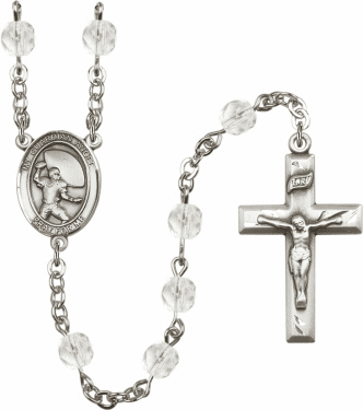 Bliss Guardian Angel Football Athlete Birthstone Rosary - More Colors