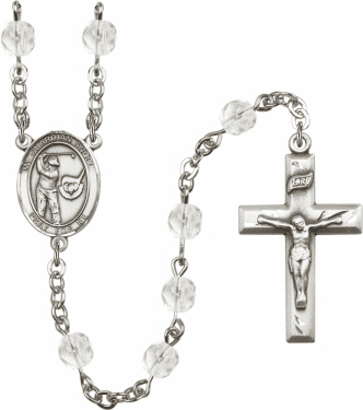Bliss Guardian Angel Golf Athlete Birthstone Rosary - More Colors
