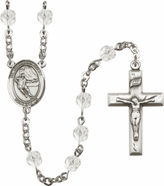 Bliss Guardian Angel Hockey Athlete Silver-Plated Birthstone Rosary