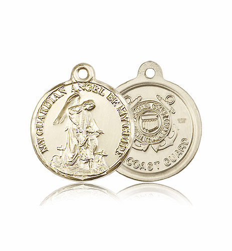 Bliss Guardian Angel US Coast Guard 14kt Gold Medal