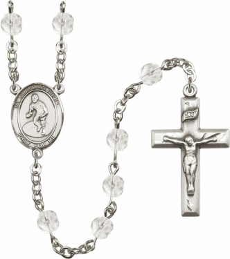 Bliss Guardian Angel Wrestling Athlete Silver-Plated Birthstone Rosary