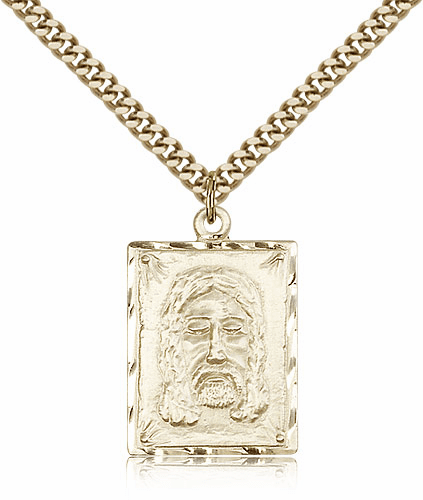 Bliss Holy Face of Jesus 14kt Gold-filled Pendant Necklace w/Chain